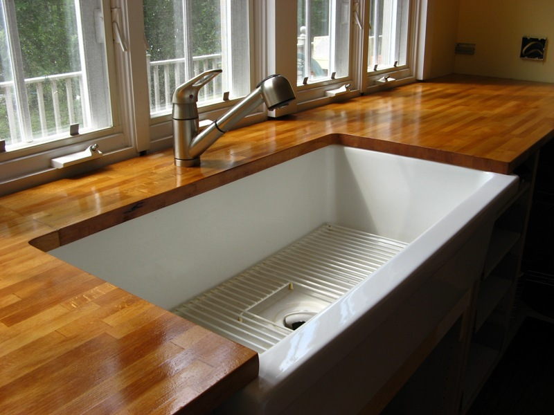 Undermount Sink W/wood Countertops?